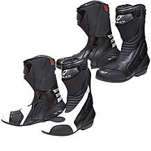 Black Strike Motorcycle Boots