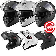 image of Black Optimus Flip Front Motorcycle Helmet (pinlock Ready)