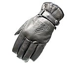 image of Black Echo Leather Motorcycle Gloves