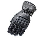 image of Black Charge Leather Motorcycle Gloves