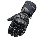 image of Black Vector Leather Motorcycle Gloves
