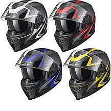 image of Black Titan Sv Edge Motorcycle Helmet