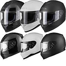 image of Black Titan Solid Motorcycle Helmet