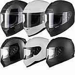 Black Titan Solid Motorcycle Helmet