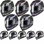 image of Black Titan Speed Motorcycle Helmet