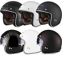 image of Black Classic Open Face Helmet