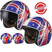 image of Black Classic British Open Face Helmet