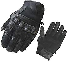 image of Black City Short Motorcycle Gloves