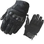 Black City Short Motorcycle Gloves