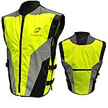 Black Hi-vis Motorcycle Vest