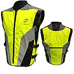 image of Black Hi-vis Motorcycle Vest