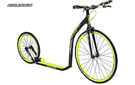 image of Crussis Road 3.1 Adults 700c/20 Inch Wheel Push Kick Sports Road Bike Scooter