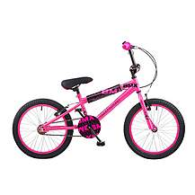 image of Concept Diva Girls Junior 18inch Wheel Bmx Bike Pink