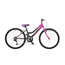 image of Concept Angel Girls 24inch Wheel 18 Speed Mtb 6 Speed Mountain Bike Black Pink