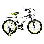 image of Concept Bolt Kids Boys 16inch Wheel Bmx Bike Stabilisers  Black And White