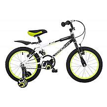 image of Concept Bolt Kids Boys 16inch Wheel Bmx Bike Stabilisers  Black And White