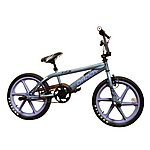image of Rooster Big Daddy Bmx 20in Purple Skyway Mag Freestyle Bike Grey