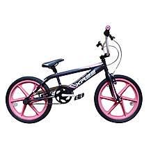 image of Harlem Xr22 Bmx 20in Pink Skyway Mag Freestyle Bike Black