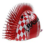 image of Raskullz Krash Red Mohawk Pirate Child's Helmet Safety 4-7 Years.