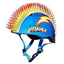 image of Raskullz Kids Safety Mowhawk Helmet Punk Style Blue And Yellow 50 54 Cm 5 Years Up