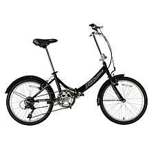 image of Falcon Foldaway Folding Bike 20 Inch Black 6 Speed