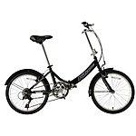 image of Falcon Foldaway Folding Bike 20 Inch Black 6 Speed