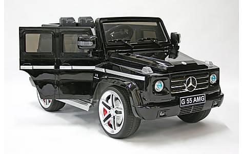 image of Kids Electric Car Mercedes Benz G55 12 Volt Black Gloss