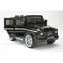 image of Kids Electric Car Mercedes Benz G55 12 Volt Black Gloss
