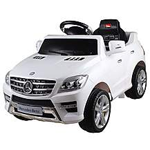 image of Licensed Mercedes Ml350 6v Electric Ride On Kids Car With Remote - White