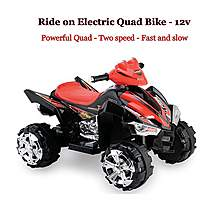 image of Predatour 12v Electric Battery Powered Kids Quad - Black