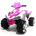 image of Predatour 12v Electric Battery Powered Kids Quad - Pink