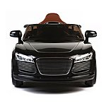 image of Audi Style 12v Kids Electric Ride On Car With Remote - Black