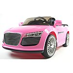 image of Audi Style 12v Kids Electric Ride On Car With Remote - Pink