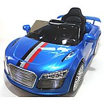 image of Audi Style 12v Kids Electric Ride On Car With Remote - Blue