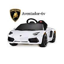 image of Licensed Aventador 6v Electric Battery Powered Ride On Car - White