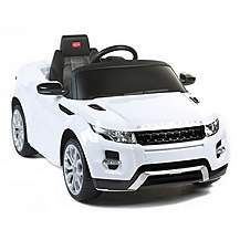 image of Licensed  Range Rover Evoque 12v Ride On Car With Remote - White