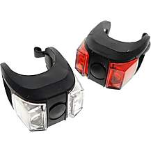 image of Claud Butler Pulse Dazzle 2 X Led 3 Mode Front And Rear Bike Light Set Lig80021