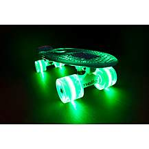 image of Mello Spearmint Flip 22in Cruiser With Led Wheels