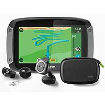 image of New Tom Tom Motorcycle 410 Premium Sat Nav Gps With Free Life Time World Maps