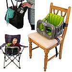image of Airtushi - Inflatable Highchair - Green & Grey