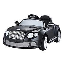 image of Licensed Bentley Gt Electric 12v Kids Ride On Car With Remote - Black