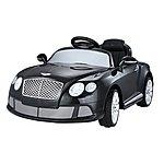 image of Licensed Bentley Gt Electric 12v Kids Ride On Car With Remote - Black