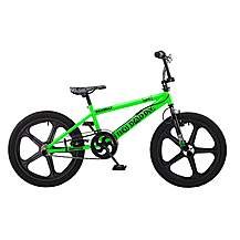 image of Rooster Big Daddy 20in Bmx Skyway Mag Freestyle Bike Black/green