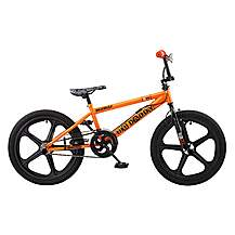image of Rooster Big Daddy 20in Bmx Skyway Mag Freestyle Bike Black/orange