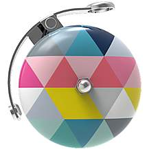 image of Urban Proof Retro Bicycle Bell, Colour Triangles