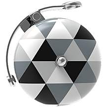 image of Urban Proof Retro Bicycle Bell, Black & White Triangles
