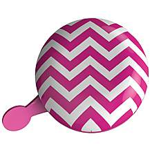 image of Urban Proof Jumbo Ding Dong Bicycle Bell, Chevron Pink