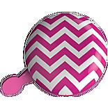 Urban Proof Jumbo Ding Dong Bicycle Bell, Chevron Pink