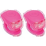 image of Urban Proof Silicone Bicycle Light, Front & Rear, Pink