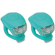 image of Urban Proof Silicone Bicycle Light, Front & Rear, Ocean Blue